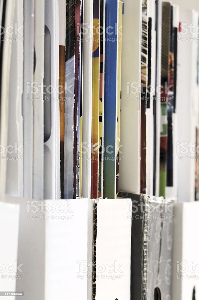 Row of magazines royalty-free stock photo