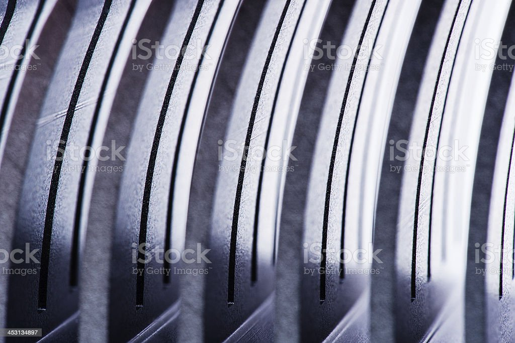 Row of metal pieces royalty-free stock photo