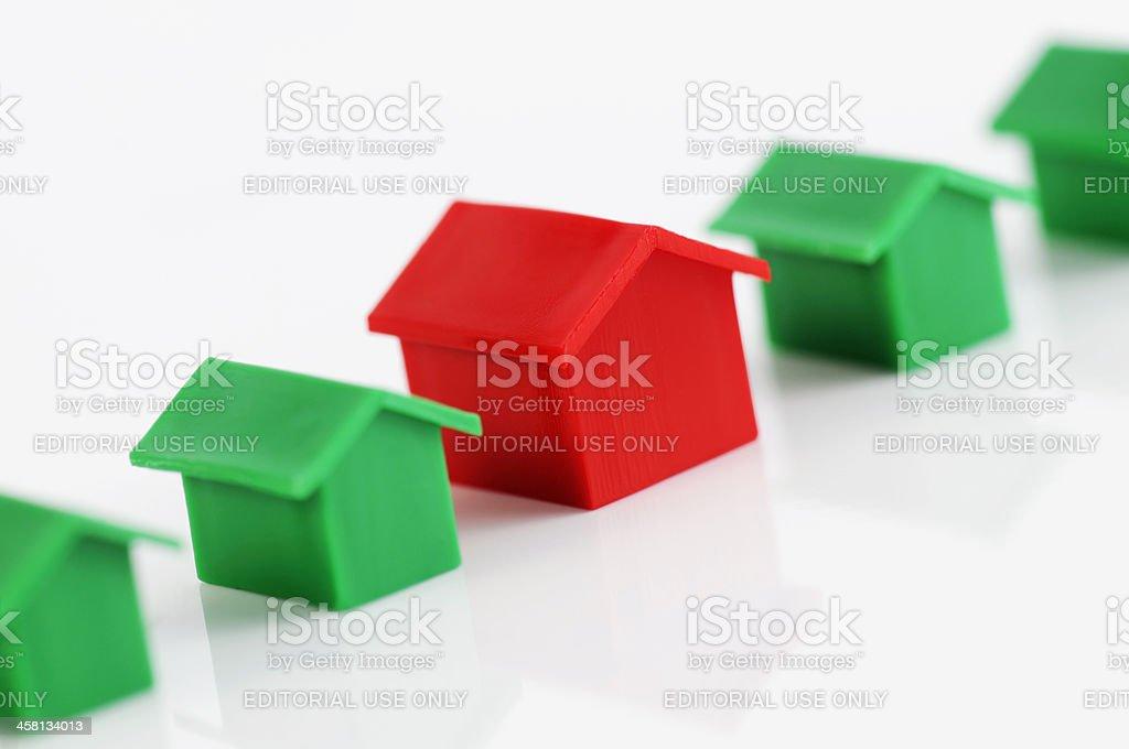 Row of model houses royalty-free stock photo