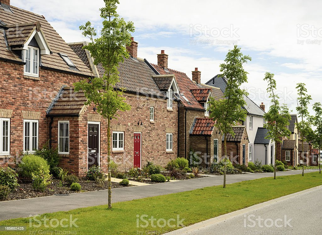 Row of Modern Houses stock photo