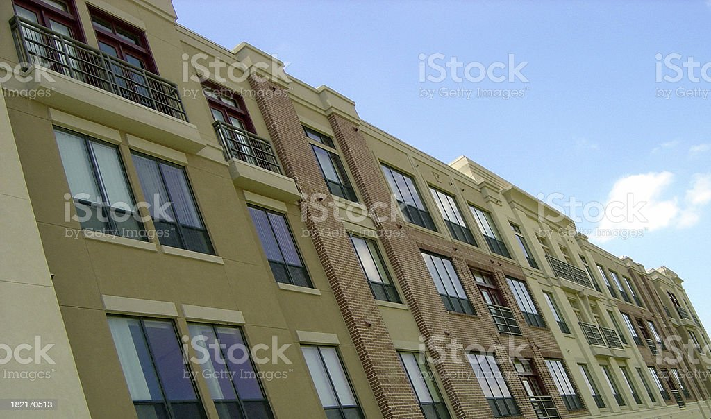 Row of Modern Townhomes royalty-free stock photo
