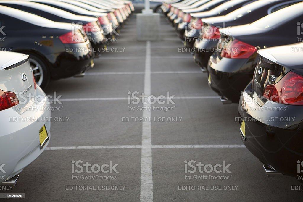 Row of New Cars stock photo
