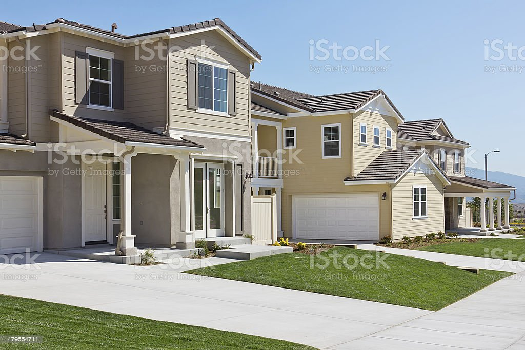 Row of New Homes stock photo