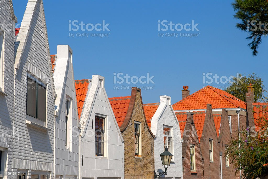 Row of old houses in Zierikzee, the Netherlands. royalty-free stock photo