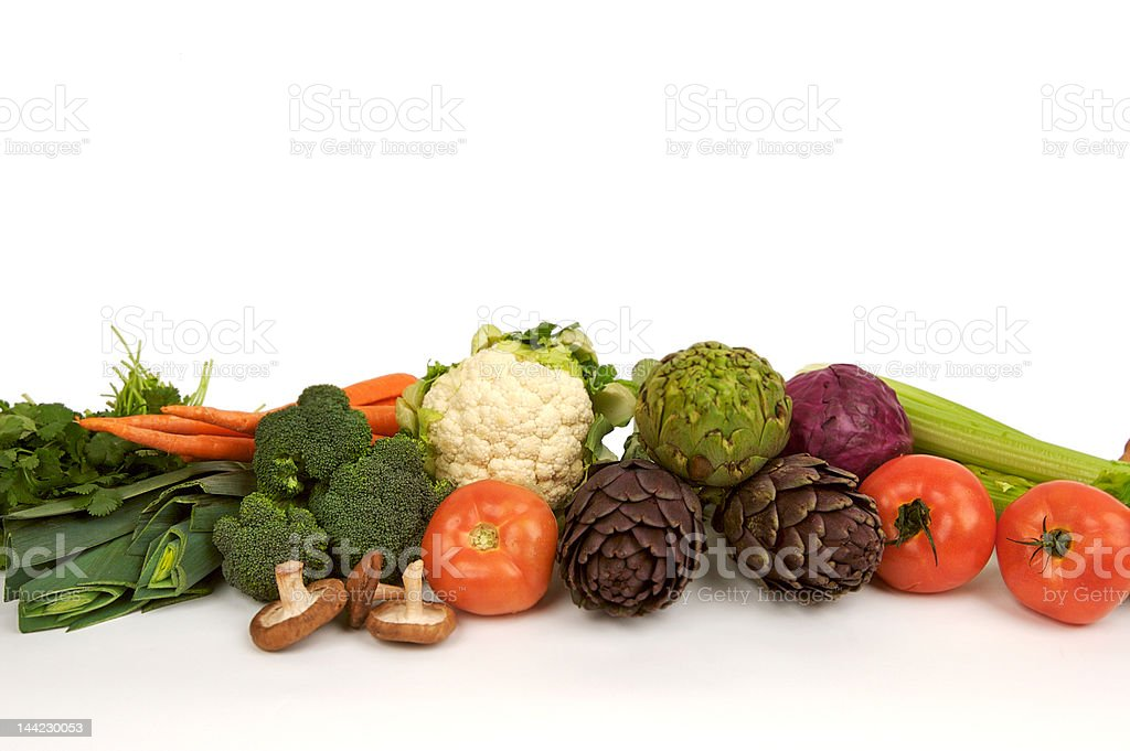 Row of Organic Veggies royalty-free stock photo