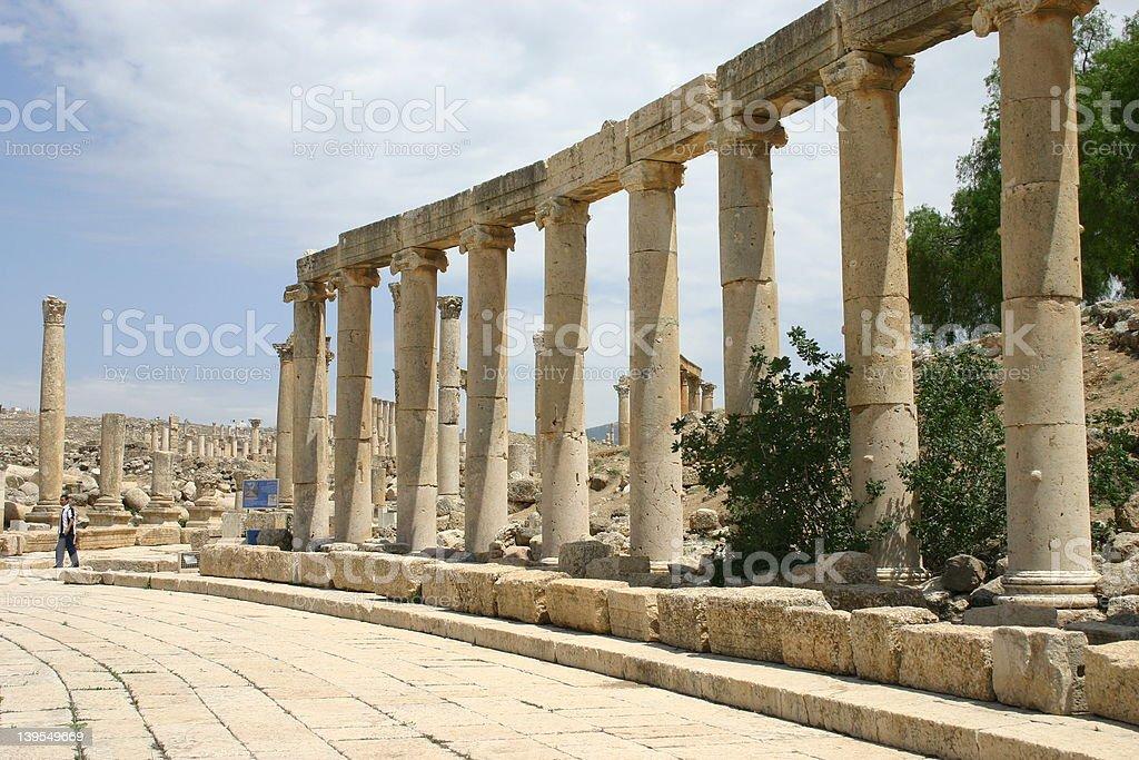 row of pillars royalty-free stock photo