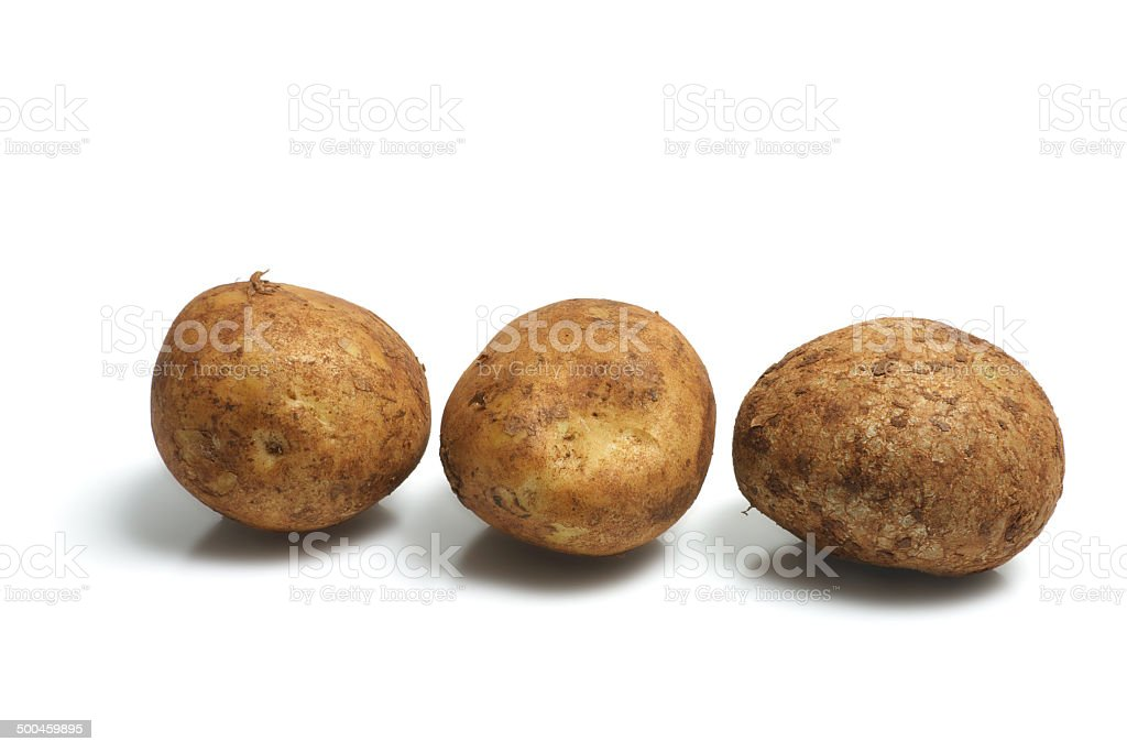 Row of Potatoes stock photo