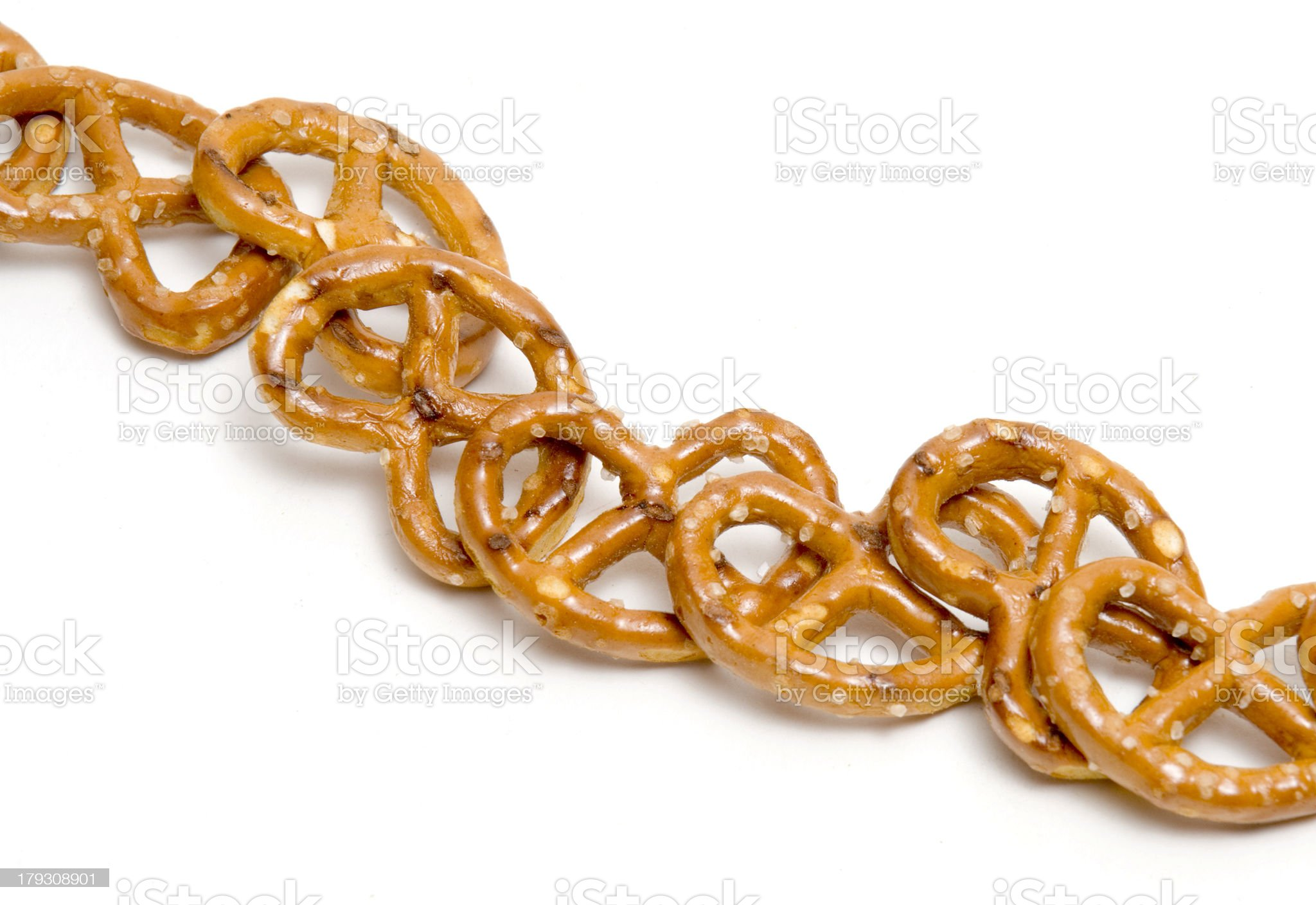 Row of Pretzels royalty-free stock photo