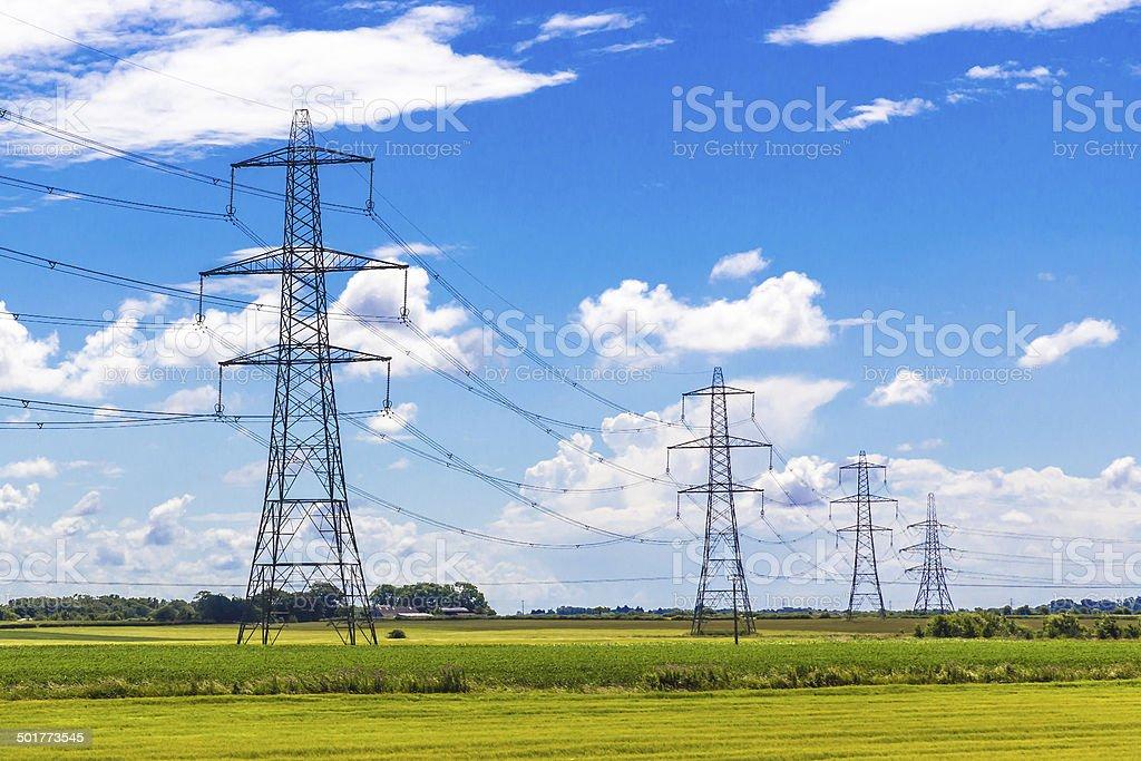 Row of Pylons stock photo