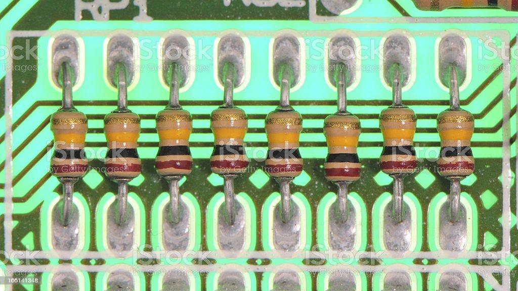 Row of resistors royalty-free stock photo