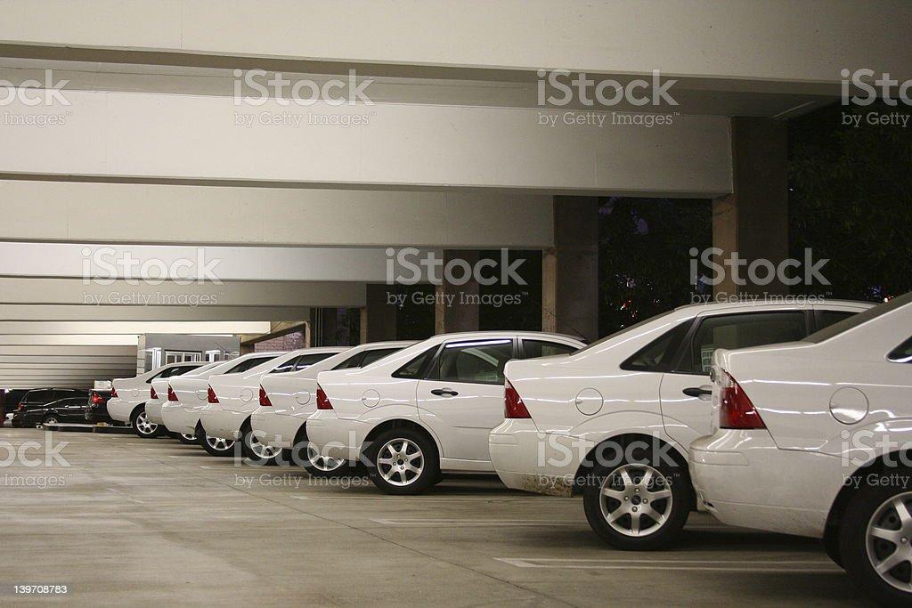 row of same cars stock photo
