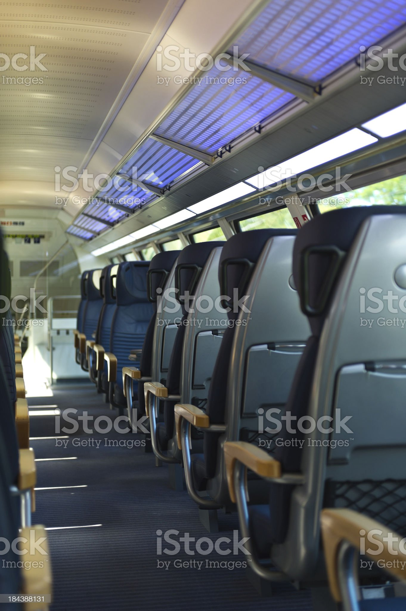 Row of seats in Train royalty-free stock photo