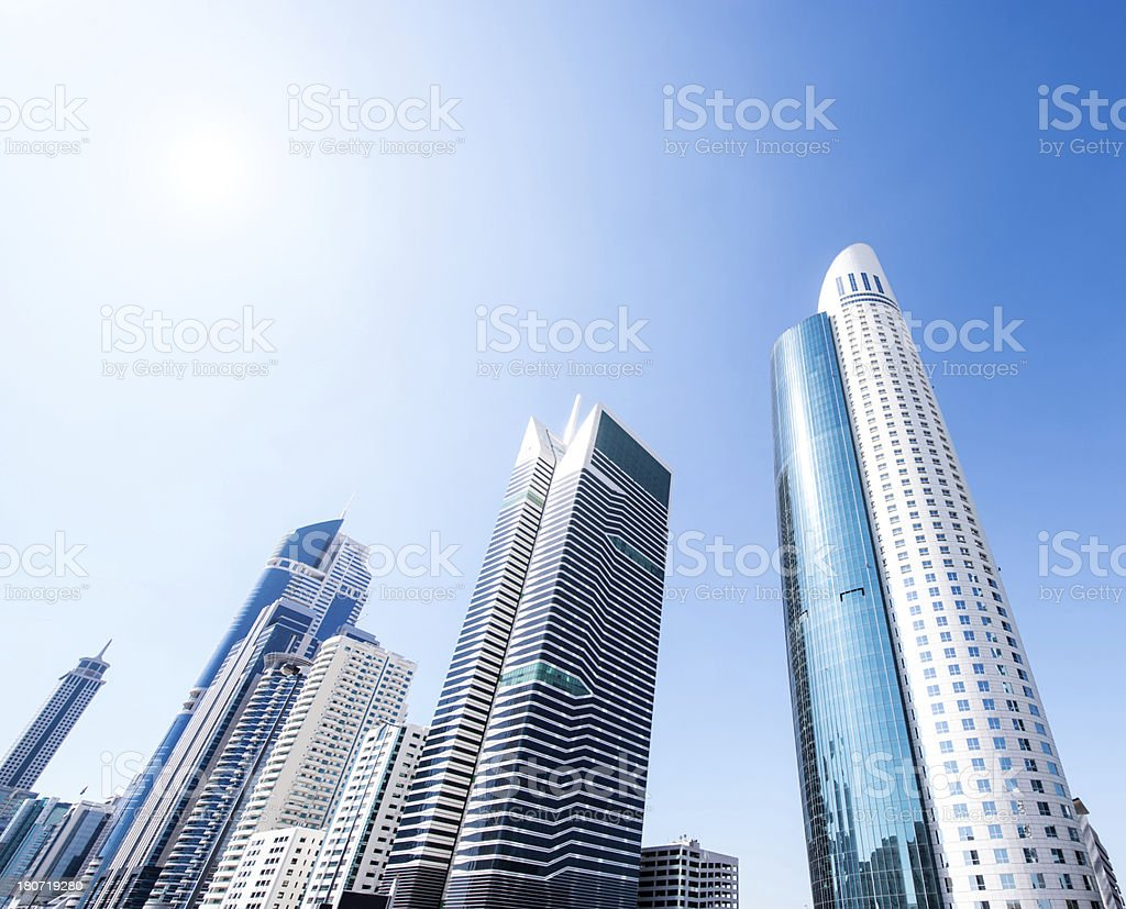 Row of Skyscrapers royalty-free stock photo