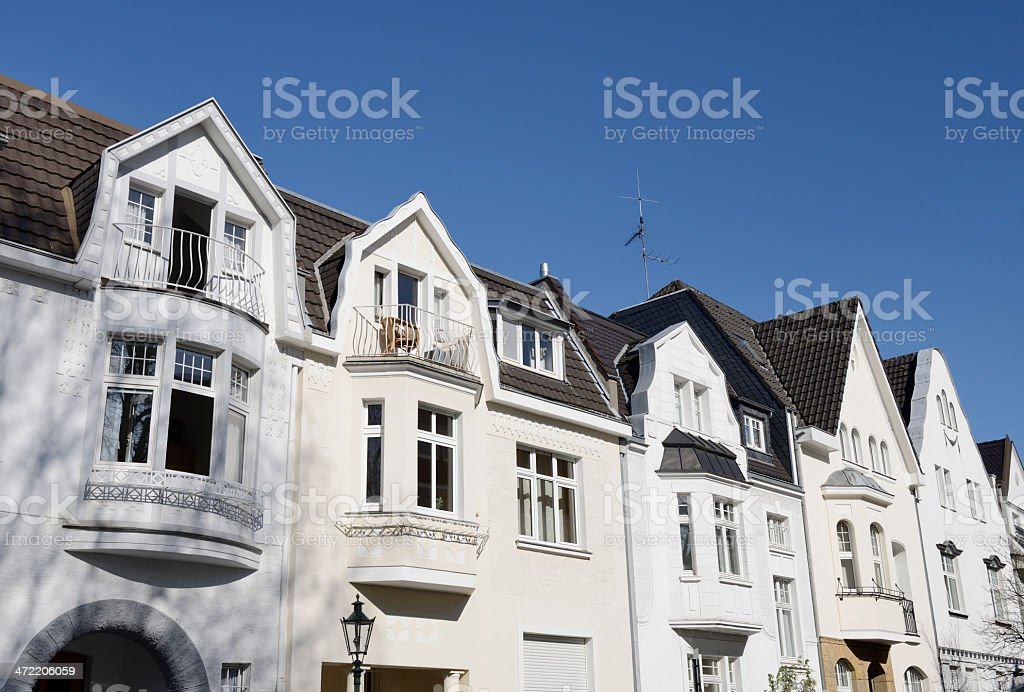 Row of small townhouses royalty-free stock photo