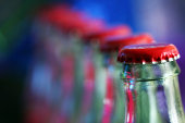 Row of Soda Bottles