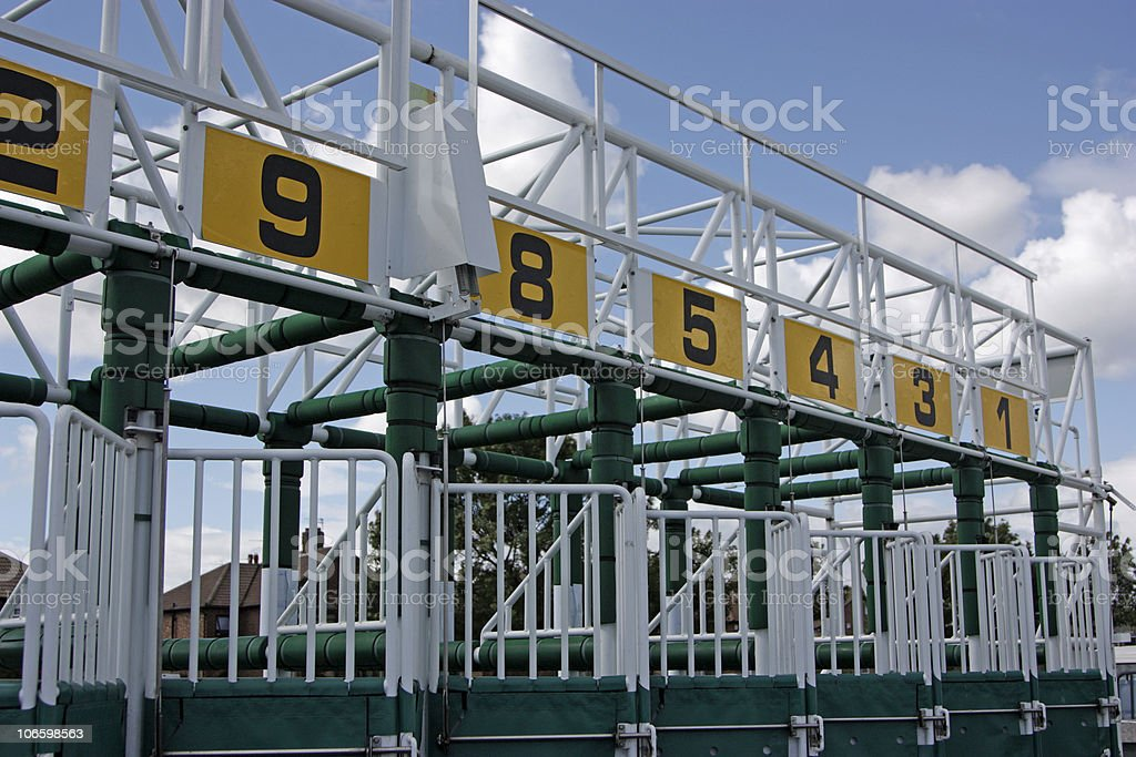 row of stalls stock photo