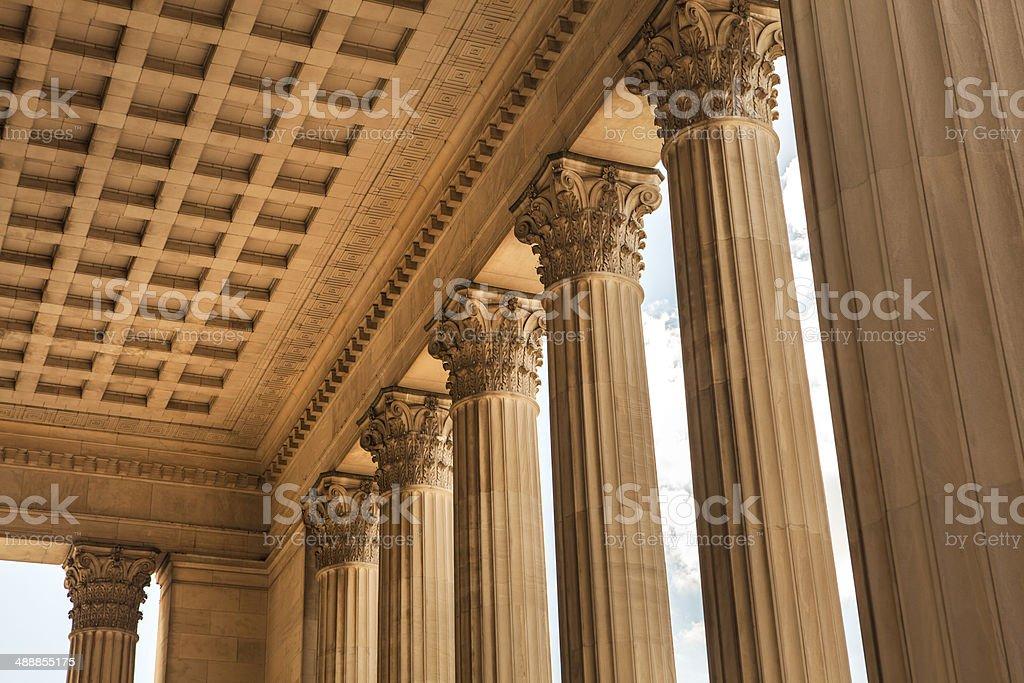 Row of stone columns royalty-free stock photo