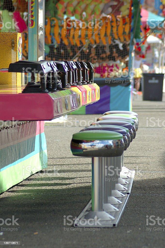 Row of Stools royalty-free stock photo