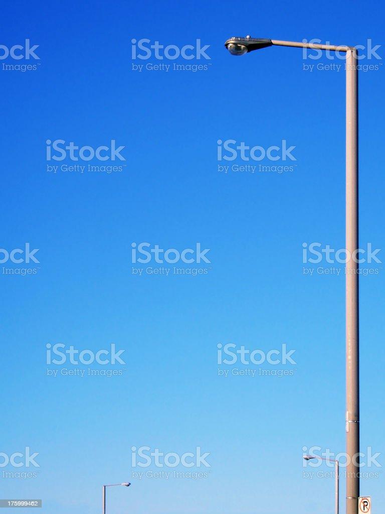 row of streetlights royalty-free stock photo