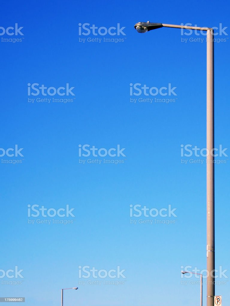 row of streetlights stock photo