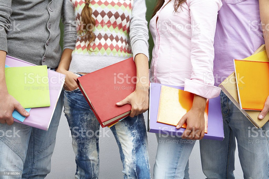Row of students royalty-free stock photo