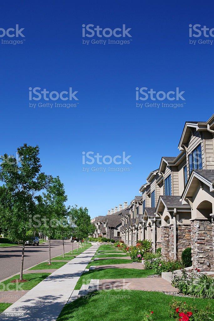 Row of Suburban Townhouses royalty-free stock photo