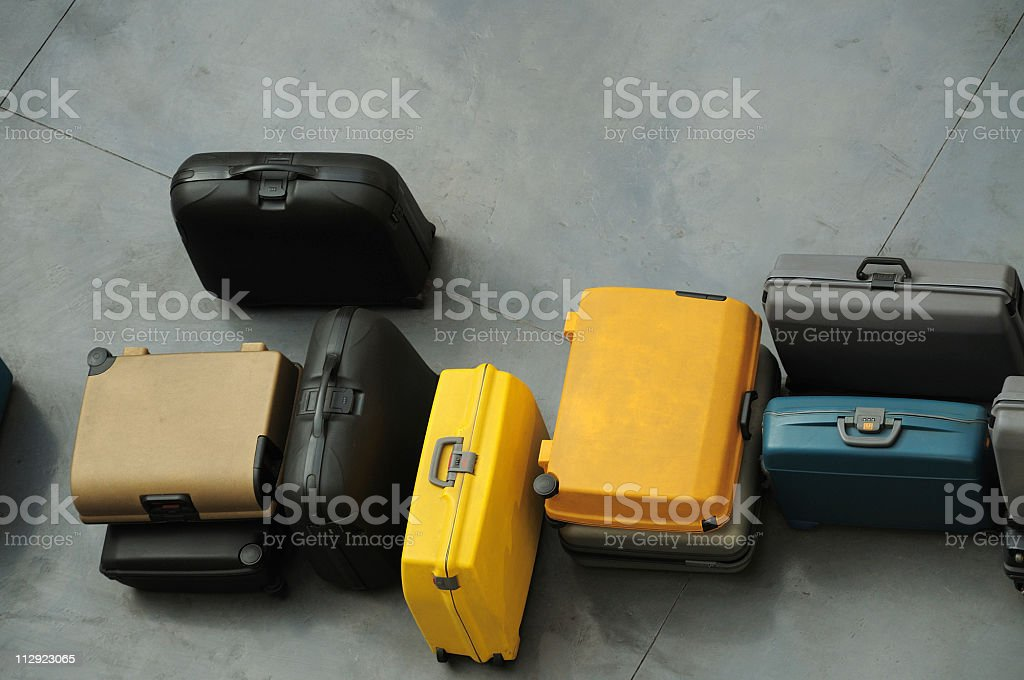 Row of suitcases royalty-free stock photo