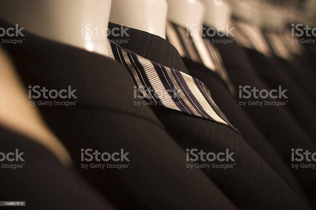 Row Of Suits stock photo