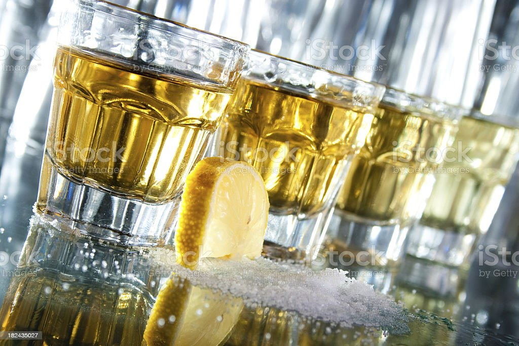 Row of tequila royalty-free stock photo