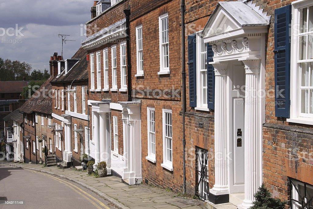 Row of terraced Georgian houses. royalty-free stock photo