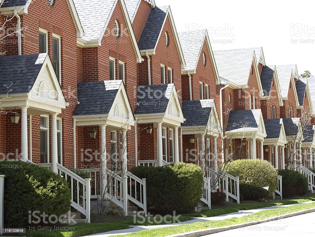 Row of Townhomes royalty-free stock photo