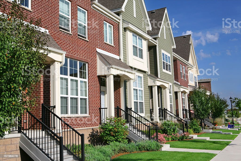 Row of Townhouses stock photo