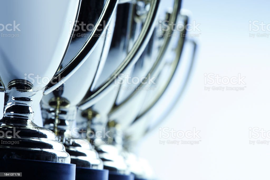 Row of Trophies stock photo