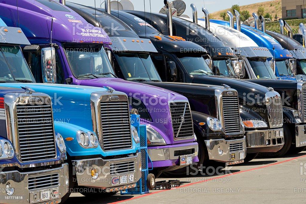 Row of Trucks at Nascar Race royalty-free stock photo
