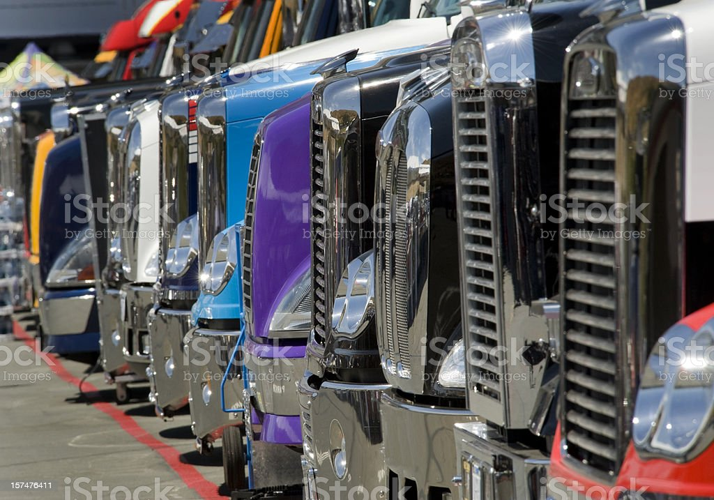 Row of Trucks royalty-free stock photo