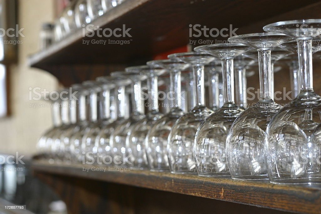 row of wine glasses royalty-free stock photo