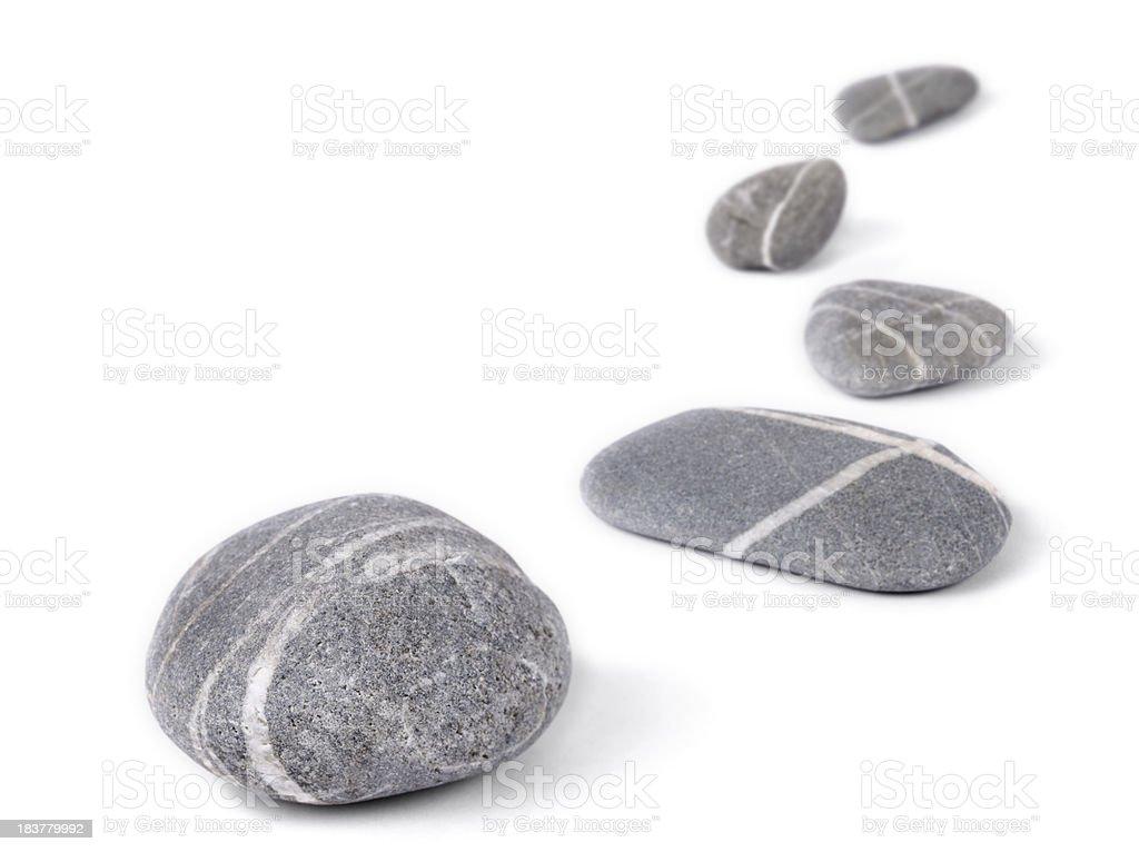 Row of zen like stones stock photo