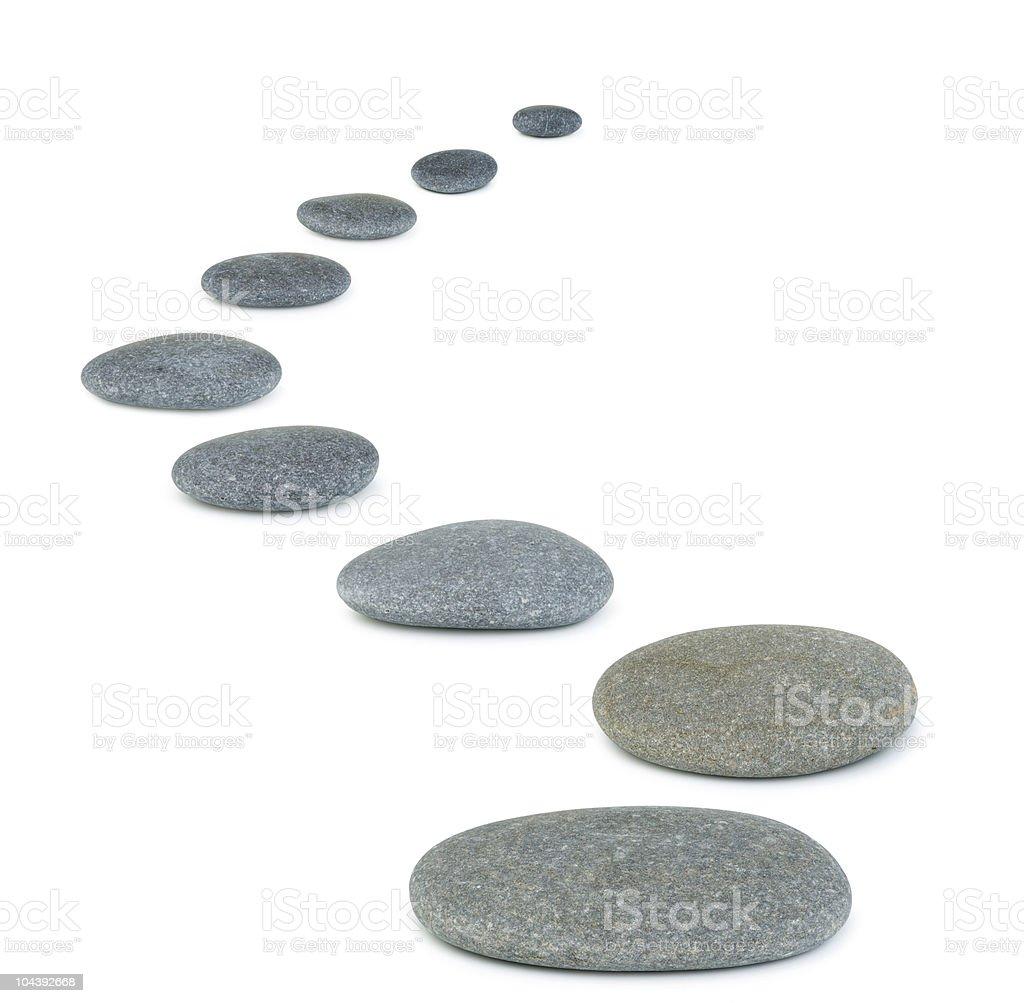 Row pebbles stock photo