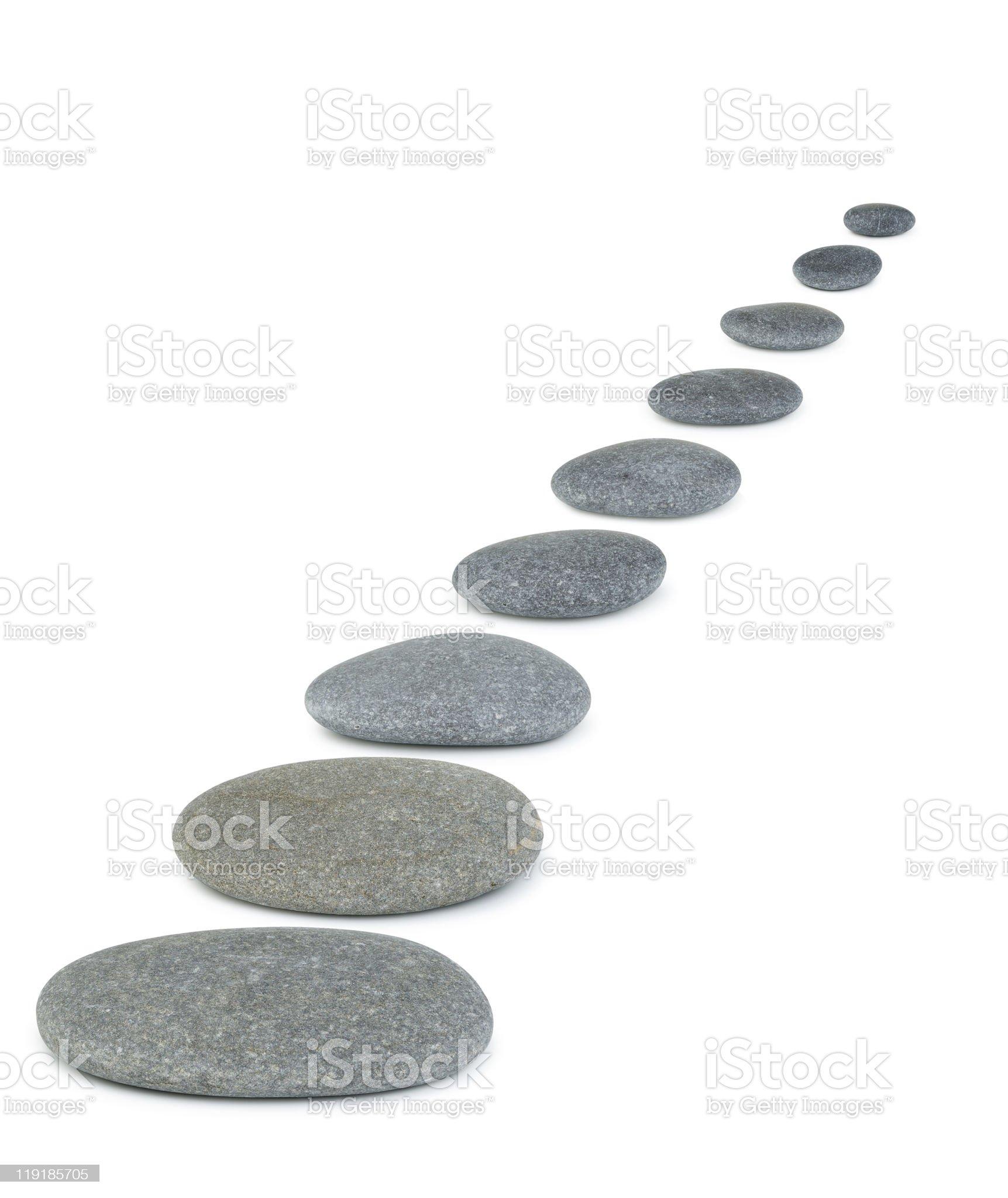 Row pebbles royalty-free stock photo