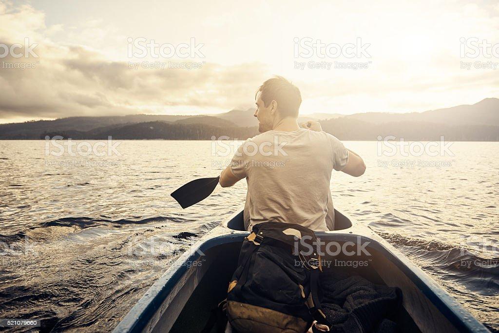 Row row row your boat into paradise stock photo