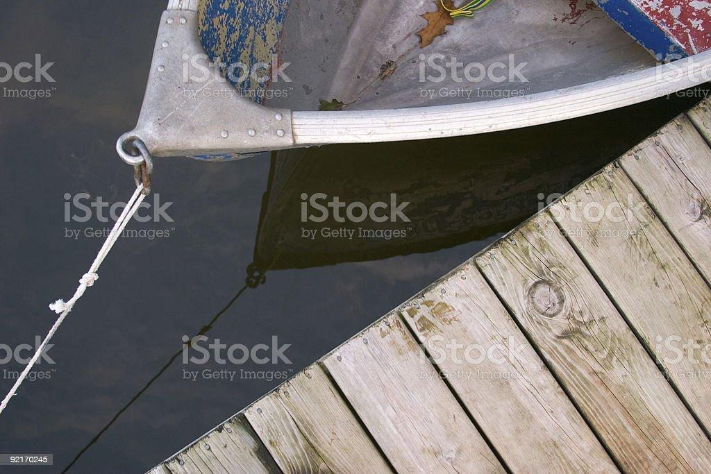 Rowboat and Dock stock photo