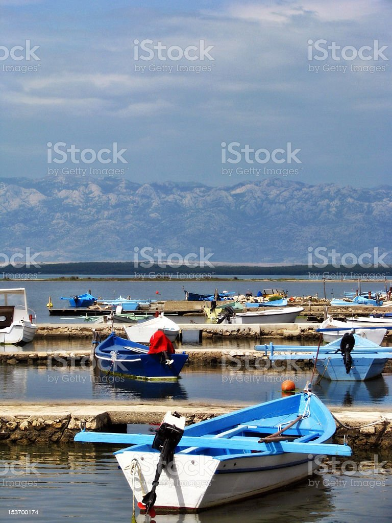 Rowboat at the Sea royalty-free stock photo