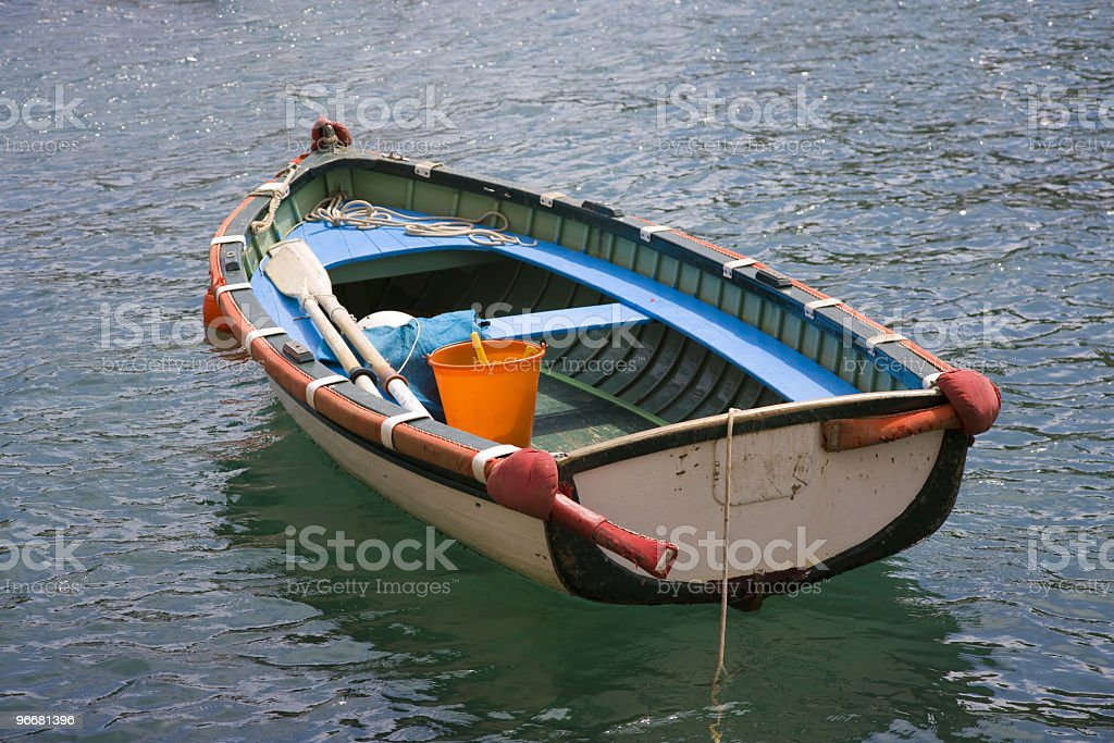 Rowboat in Portofino royalty-free stock photo