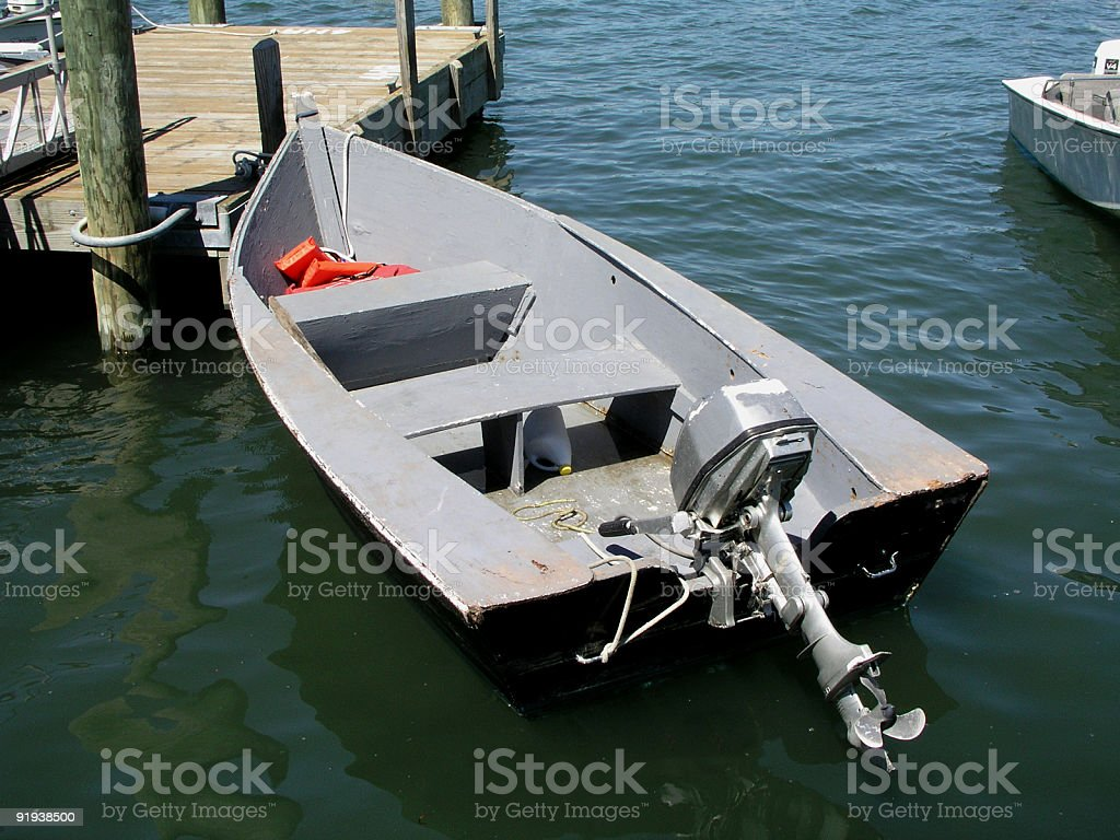 Rowboat in the water royalty-free stock photo