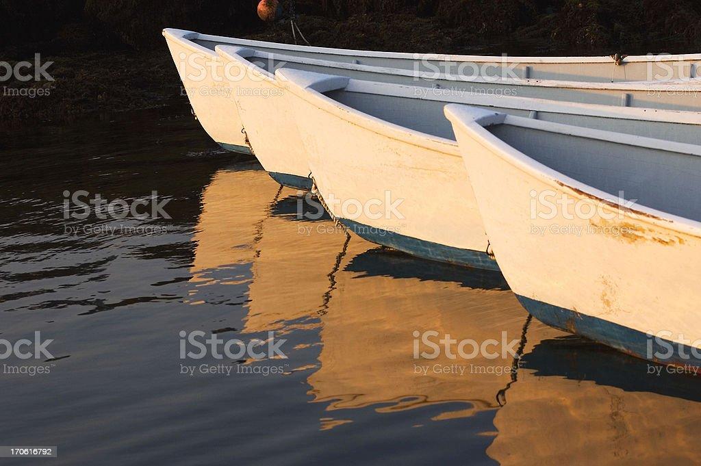 Rowboat Reflections stock photo