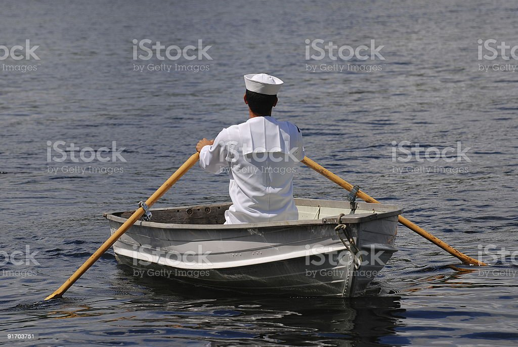 Rowboat Sailor royalty-free stock photo