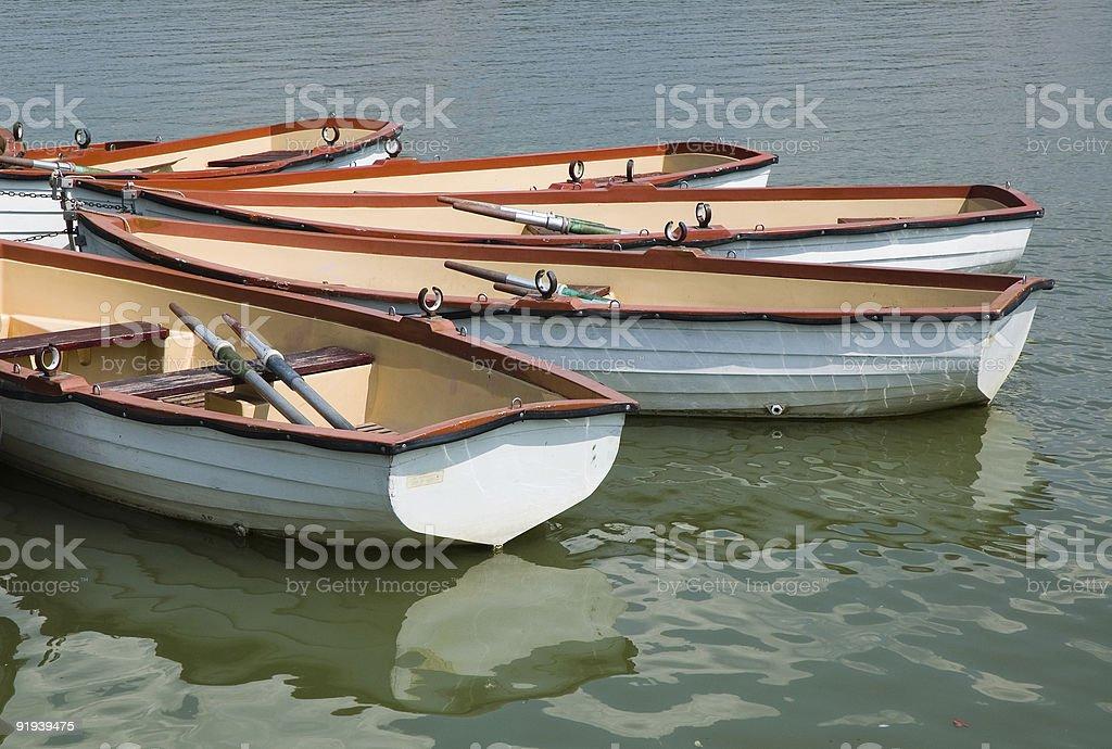 Barche a remi - 3 foto stock royalty-free