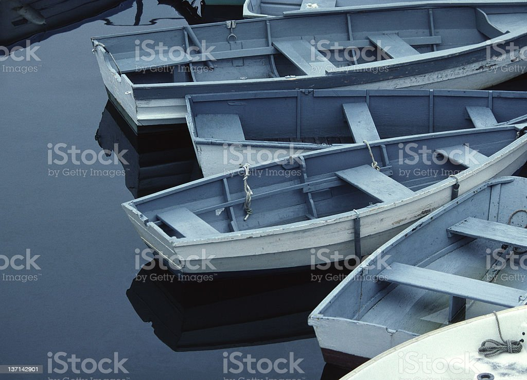 Rowboats, New England royalty-free stock photo