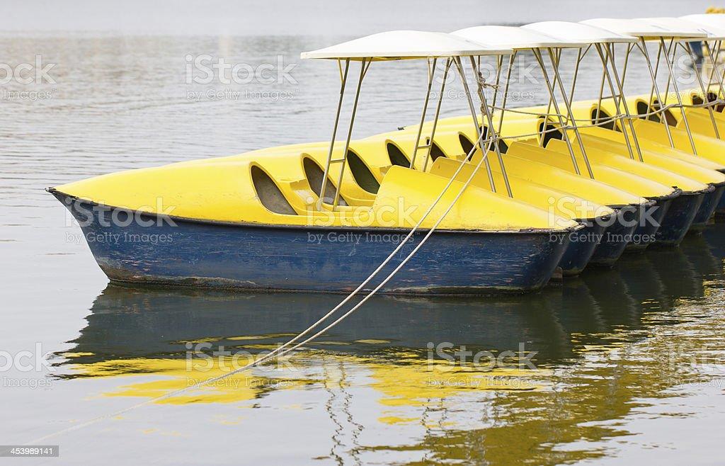 Rowboats on Lake. royalty-free stock photo
