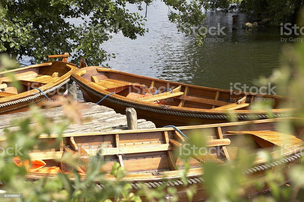 Rowboats royalty-free stock photo